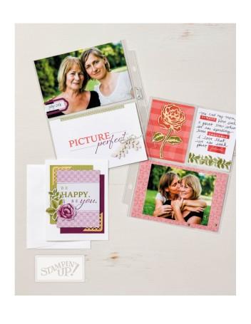 petal garden scrapbook page