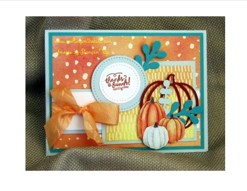 pumpkins peach bow w logo
