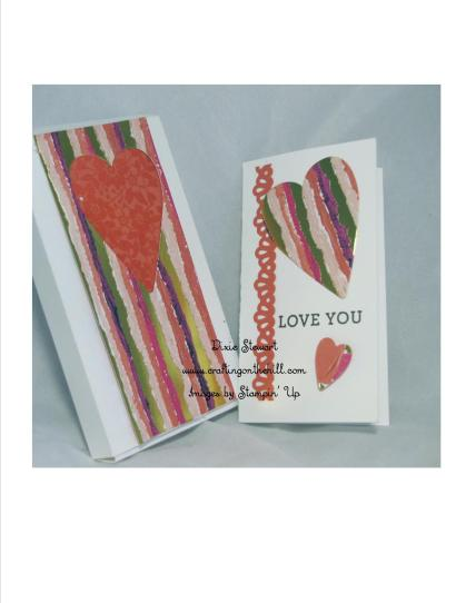 heart box and card with logo