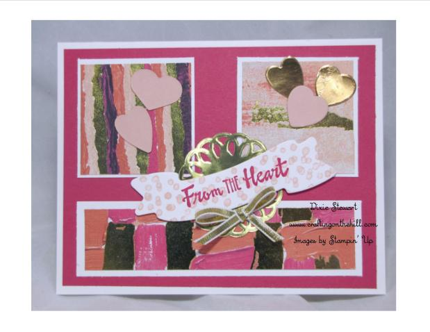 Painted with Love Sampler and Card