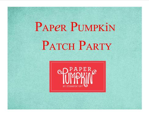 paper pumpkin patch party