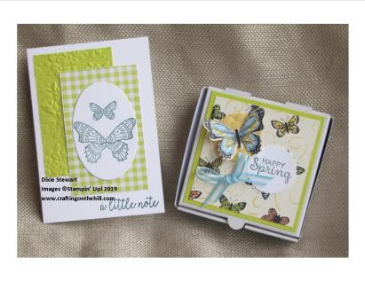 butterfly card and box